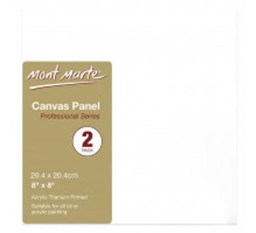 M.M. Canvas Panels Pkt 2 20.4x20.4cm (CMPL2020)