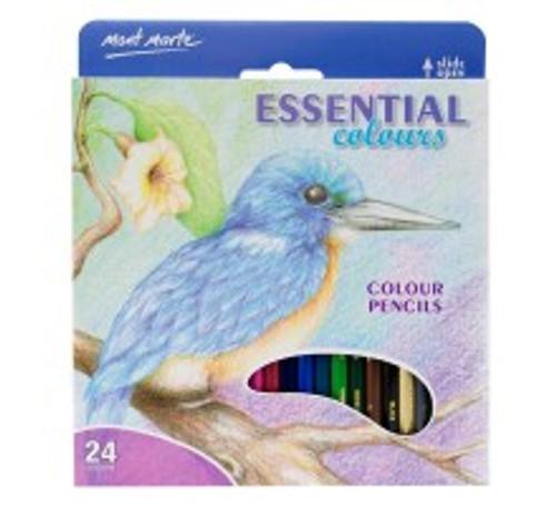 M.M. Colour Pencils 24pce - Essential Colours (MPN0095)