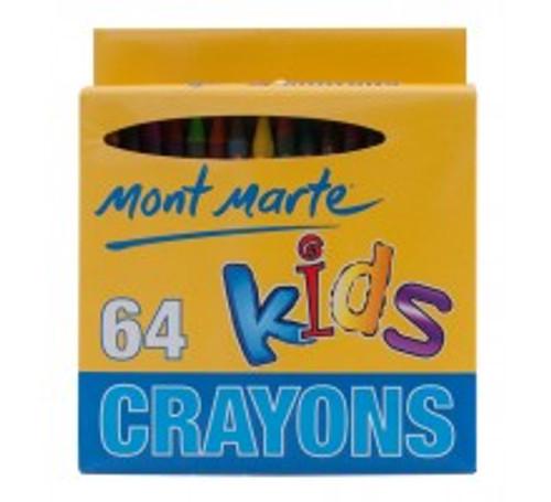 M.M. Kids Crayons 64pce (KMCS0001)