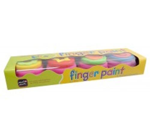 M.M. Kids Colour Finger Paints 4pce w/stamp (MMKC0003)