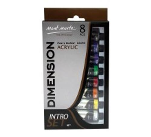 M.M. Dimension Acrylic Intro Set 8pce x 18ml (PMDA8181)
