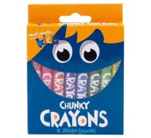 M.M. Kids Chunky Crayons 8pce (MMKC0124)