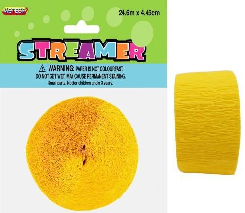 CREPE STREAMER - SUN YELLOW