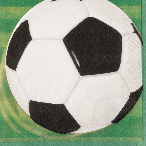 3D SOCCER 16 LUNCH NAPKINS