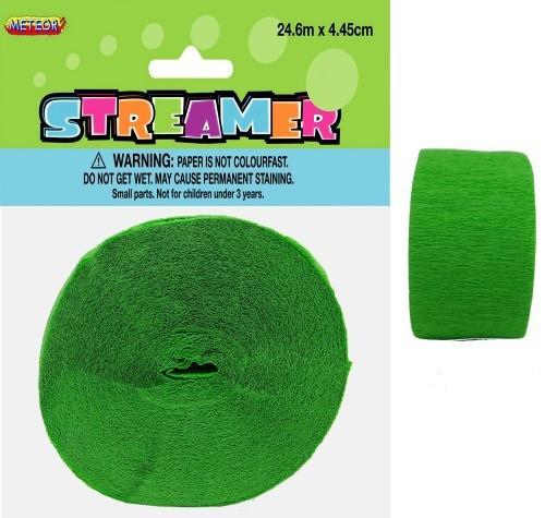 CREPE STREAMER - LIME GREEN