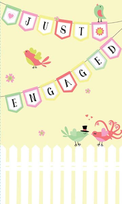 CARD ENGAGEMENT BUNTING