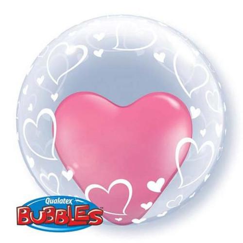 "24"" Deco Bubble (Stylish Hearts)"