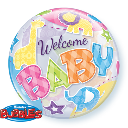 """22"""" Single Bubble (Welcome Baby Animals Patterns)"""