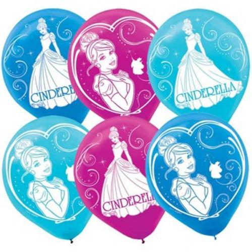 Cinderella Sparkle Party Latex Balloons