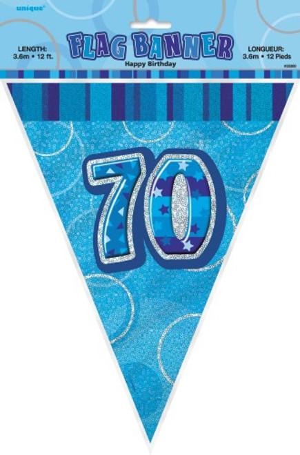 GLITZ BLUE FLAG BANNER - 70