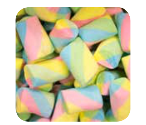 Rainbow Marshmallow twist 1kg