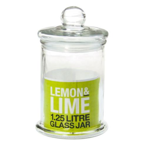 1.25 LITRE GLASS JAR 24CM