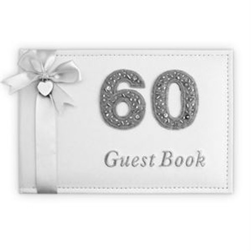 BIRTHDAY GUEST BOOK SILVER60TH