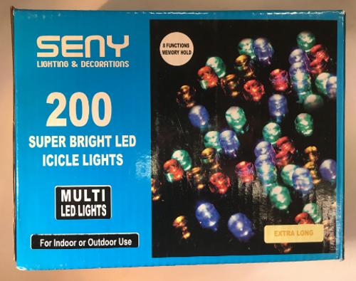 Icicle LED - 200 LED Icicle Multi
