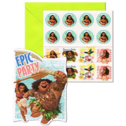 Moana Epic Party Invitations & Envelopes