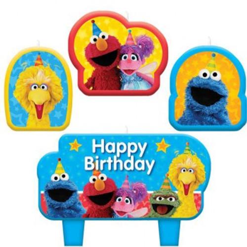 Sesame Street Candle Set Happy Birthday