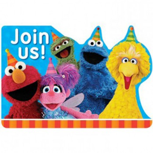 Sesame Street Invitations Join Us