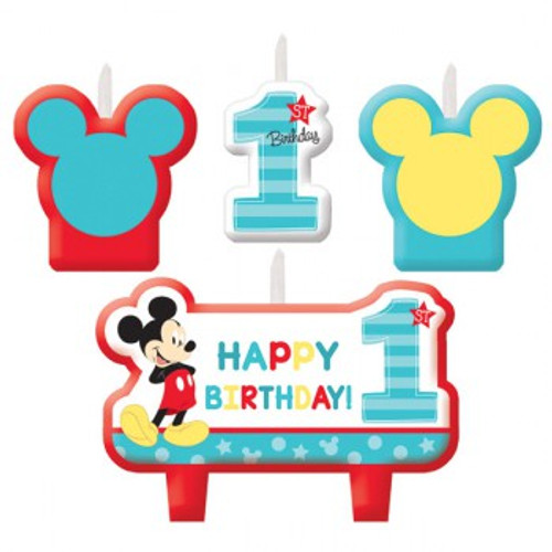 Mickey 1st Birthday Candle Set Fun To Be One