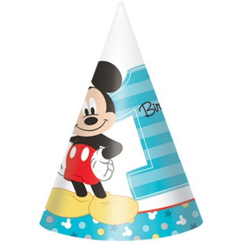 Mickey 1st Birthday Cone Hats Fun To Be One
