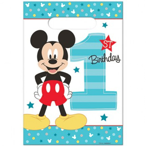 Mickey 1st Birthday Loot Bags Fun To Be One