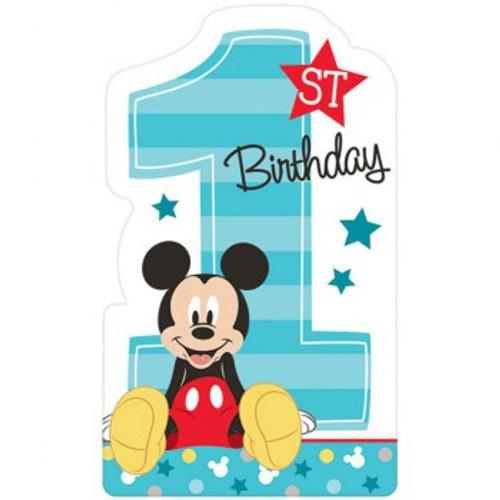 Mickey 1st Birthday Invitations Fun To Be One
