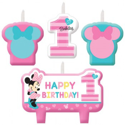 Minnie 1st Birthday Candle Set Fun To Be One