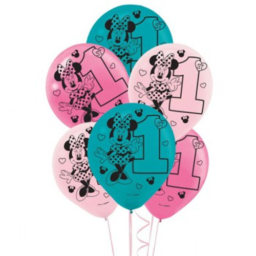 Minnie 1st Birthday Latex Balloons Fun To Be One