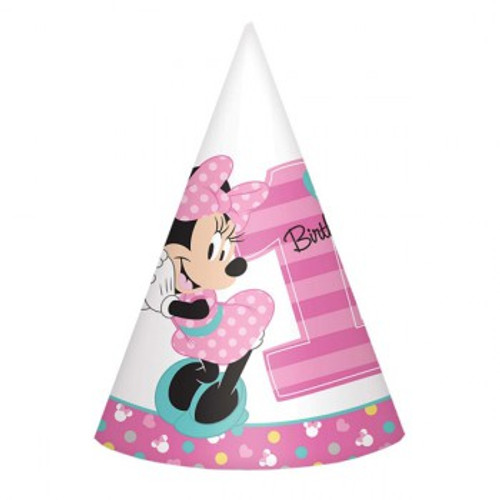 Minnie 1st Birthday Cone Hats Fun To Be One