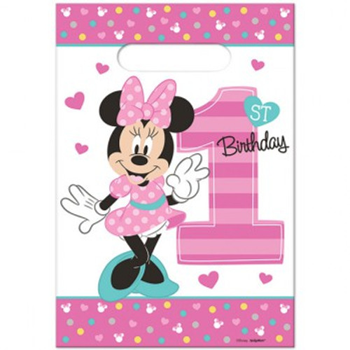 Minnie 1st Birthday Loot Bags Fun To Be One
