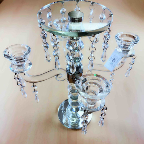 4 Head Crystal Candle Holder
