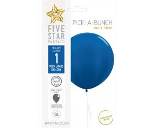 Matte Royal Blue 90cm Balloon 1pk