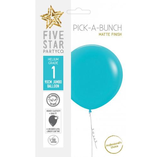 Fashion Carribbean Blue 90cm Round Balloon