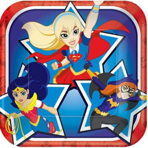 Super Hero Girls Luncheon Plates Square