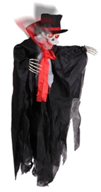 ANIMATED VAMPIRE, LIGHT UP & SOUND 70x 15x90 cm  INCLUDES BATTERIES