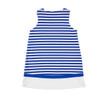 Royal White Stripe Knit Dress w/Tulip Pocket