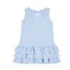 Med Blue Stripe Interlock Dress w/Flowers