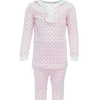 Alden  2pc Pajama Set w/Ruffled Henley Top Candy Canes