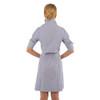 Breezy Blouson Dress- Navy/white