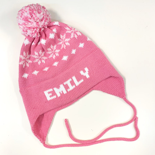 Bright Pink/white Nordic personalized Flaphat
