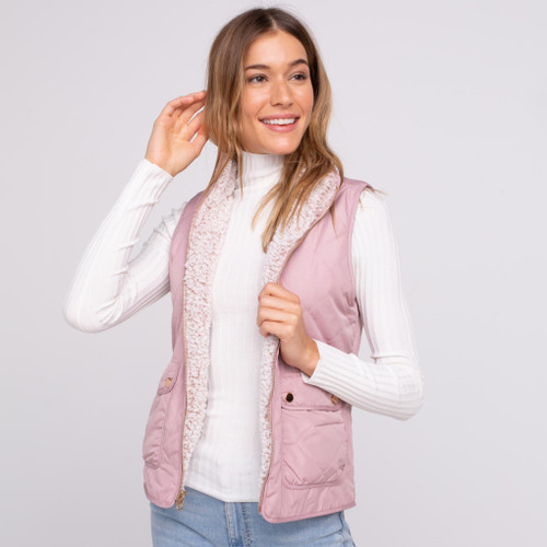 Park City Reversible Dusty Mauve Smoke Rose Vest