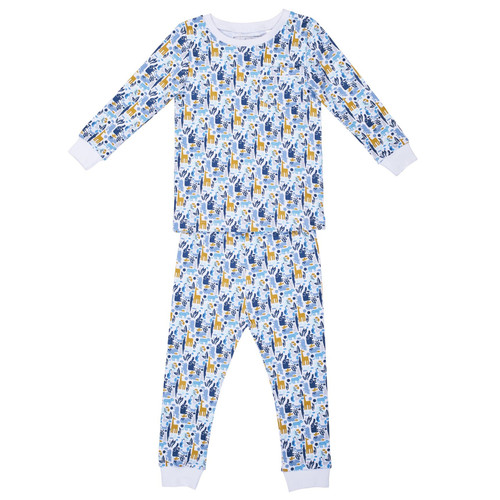 Bradford  2 Pc Zoo Pajamas Set w/Piped Pocket