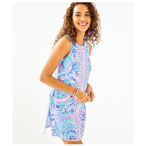 DONNA ROMPER MULTI HAPPY AS A CLAM ENGINEERED ROMPER