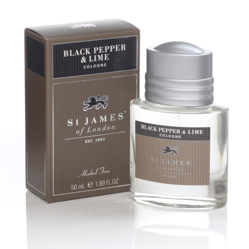 Black Pepper & Lime Cologne 50ml- Alcohol Free