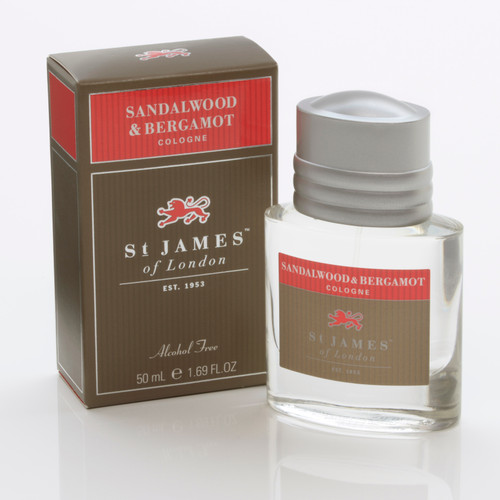 Sandalwood & Bergamot Cologne 50ml- Alcohol Free