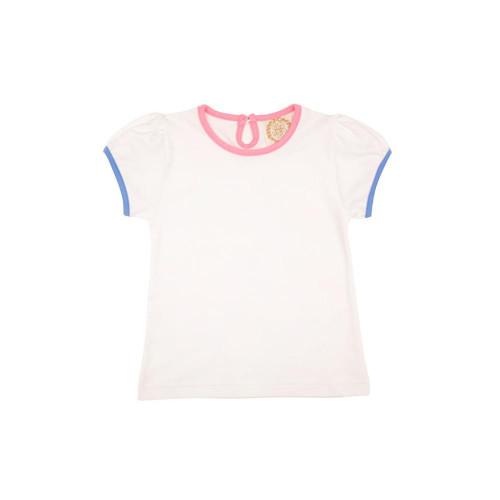 Penny's Play Shirt Short Sleeve Onesie WaWhite Hamptons Hot Pink Sunrise Blvd Blue