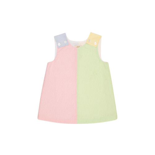 Emma Kate Colorblock Jumper Pique Buckhead Blue Seaside Sunny Yellow Pink Mint