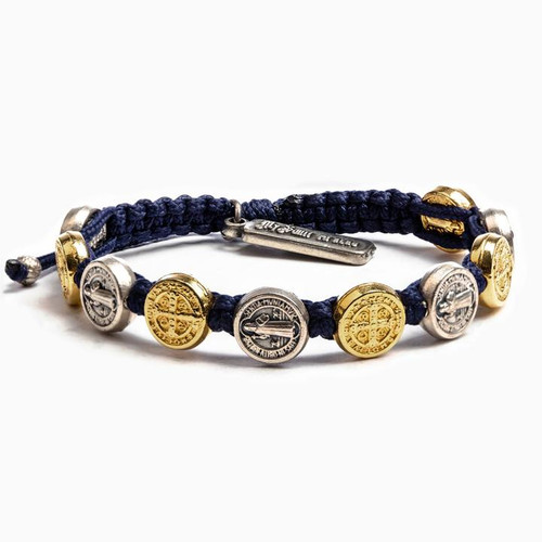 Benedictine Blessing Bracelet - Navy/Mixed