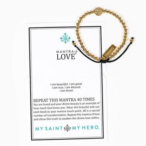 Mantra Of Love Bracelet - Gold/Black