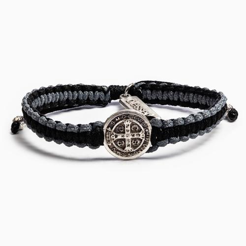 Gratitude Blessing Bracelet - Black/Slate/Silver