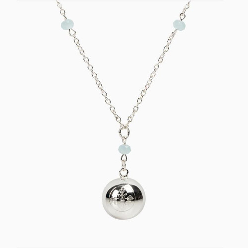 Awaken Angel Chime Necklace - Silver